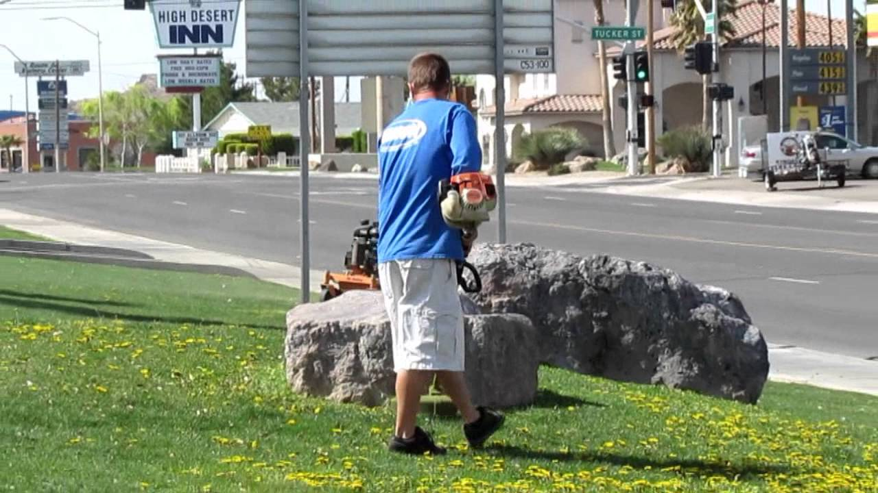 landscaping business in action