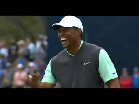퍼팅하다 빵터진 타이거우즈 ㅋㅋ Tiger Woods funny putting shot -[Players Championship 3R] 2019.3.17