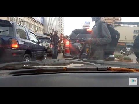 Kampala's most dangerous area (Queen's roundabout) 2020