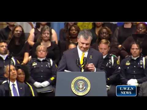Dallas Police Memorial service (Full Video)