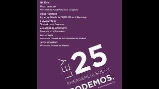 Presentación de la Ley 25 de emergencia social en San Blas