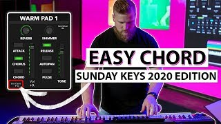 New Easy Chord Feature inside Sunday Keys for MainStage Template