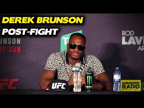 Emotional Derek Brunson Reacts To Rob Whittaker Loss | UFC Fight Night Melbourne