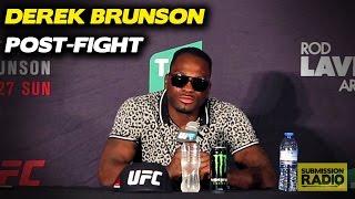 Emotional Derek Brunson Reacts to Rob Whittaker Loss | UFC Fight Night Melbourne