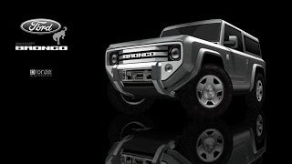 Ford Bronco Concept, 2004, 3d SketchUp