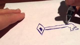 How to draw a fancy key