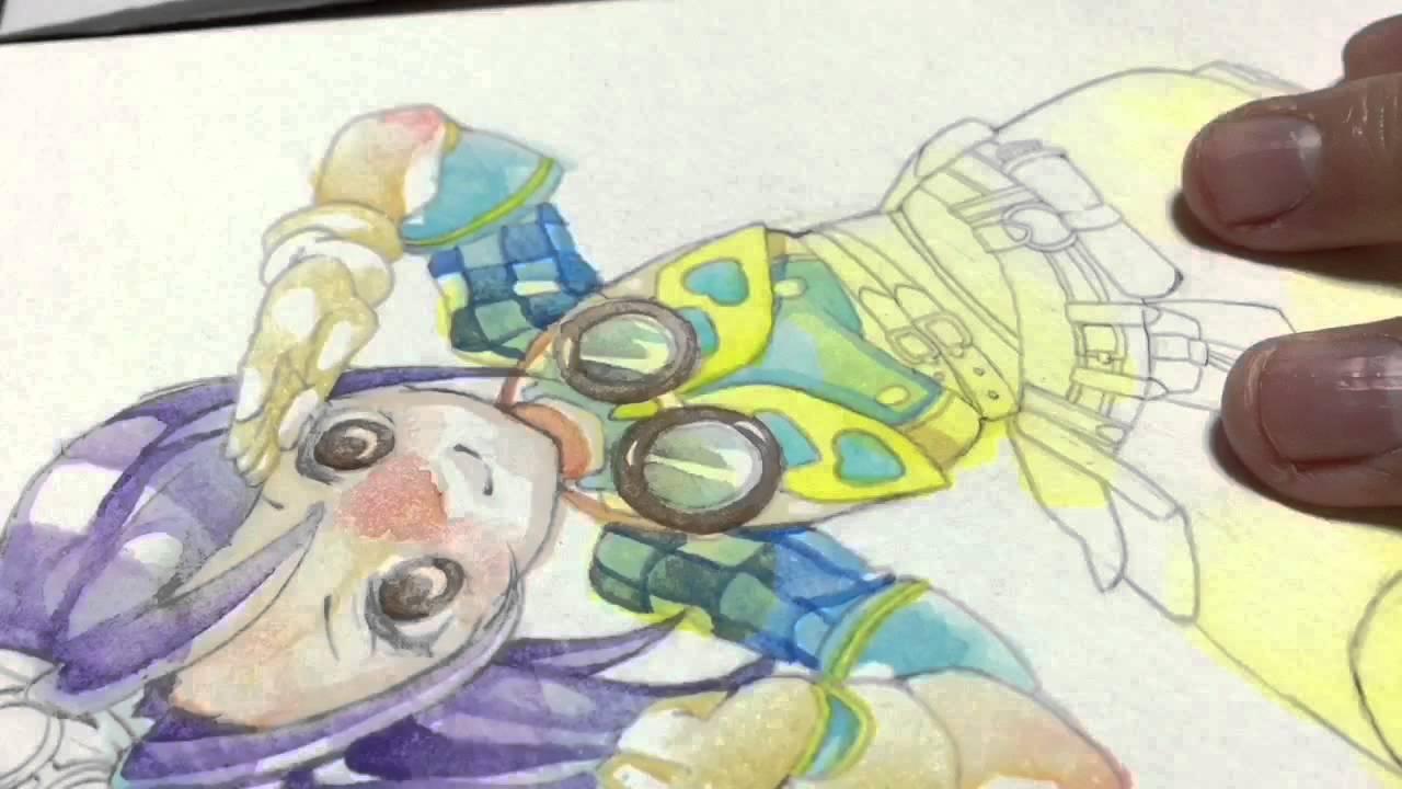 水彩色鉛筆プリパラ東堂シオン描いてみたメイキング Youtube