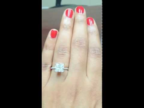 2.5 Carat Princess Cut Diamond Engagement Ring