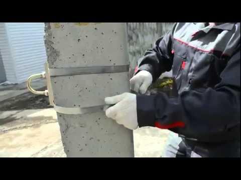 Монтаж стальной монтажной лентой