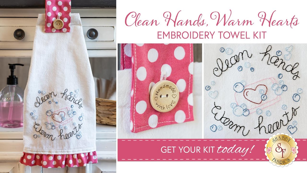 How to Make the Clean Hands Warm Hearts Towel + FREE Pattern | Shabby Fabrics