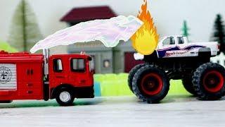 Vehicles and Trucks for Children Videos   Monster Truck   Fire Truck