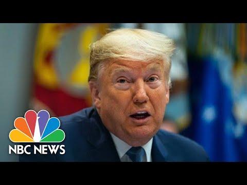 Trump Meets With Bankers On Coronavirus Response | NBC News (Live Stream Recording)
