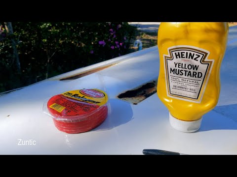 Will Bologna and Mustard strip the paint off car, truck, or van? - experiment
