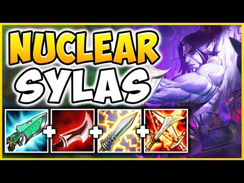 WTF!? NEW CHAMPION SYLAS CAN INSTANT ONE-SHOT ANYONE!?!  THIS IS 100% UNFAIR! - League of Legends thumbnail