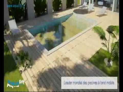 Aqualift Piscine Fond Mobile Demonstration  Youtube