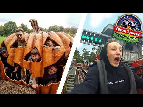FIRST EVER TRIP TO SCAREFEST! | ALTON TOWERS VLOG