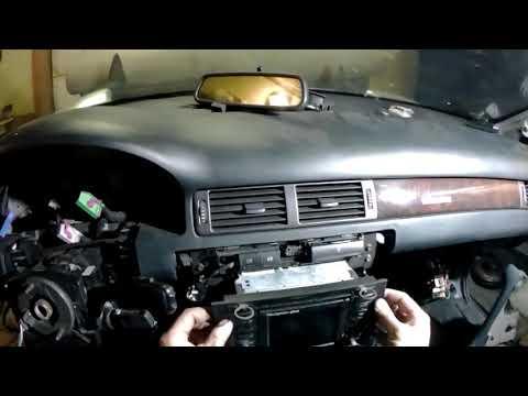 Снятие магнитолы Audi А6 С5