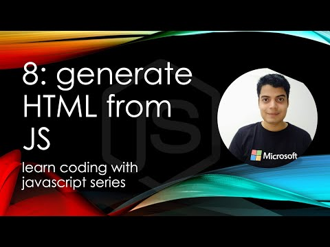 Coding With JS 8: Generating HTML From JavaScript