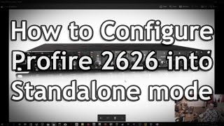 how to Configure ProFire 2626 for extra Ins/Outs (in Standalone Mode)
