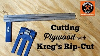 Cutting Plywood and Sheet Goods with Kreg's Rip-Cut--by Home Repair Tutor