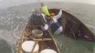 Shark versus canoe fisherman!!!!