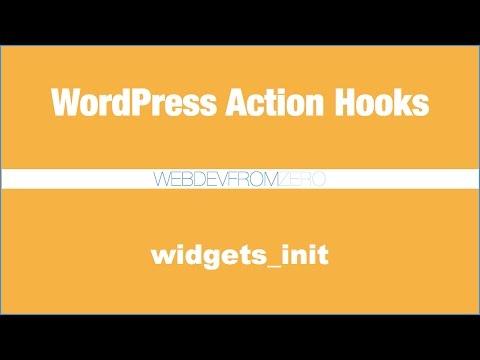 WordPress Tutorial - action hooks - widgets init - español
