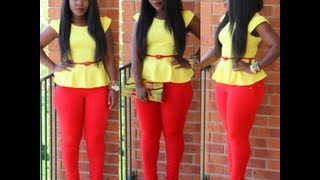 Outfit of the Day: Peplum ♥ Part 3 ft. Kente Clutch {GHANAIAN CHRISTMAS PARTY}