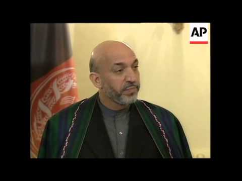 WRAP News conference by Afghan leader and British PM.