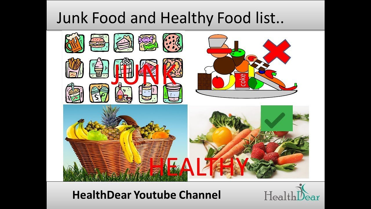 what is healthy food and junk food