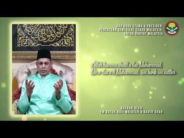 Covid19 - Titipan Doa Guru Utama Mewakili Warga PSSCM untuk Seluruh Rakyat Malaysia