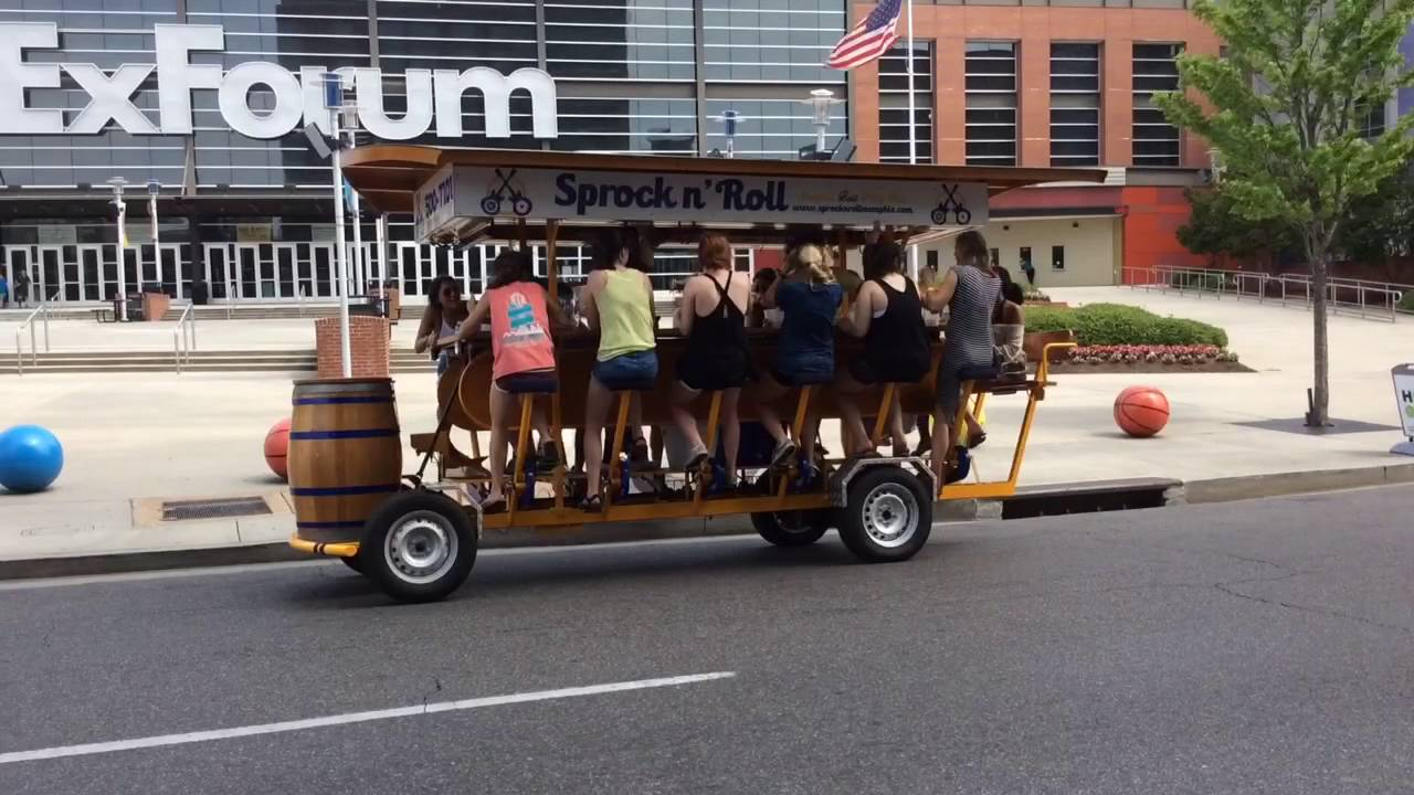 Party Bike Fun In Memphis With Sprock N Roll Pedal Taverns Youtube