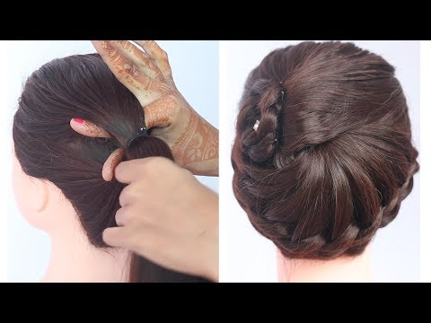 new latest easy hairstyle with trick || hairstyle for thin hair || hairstyle for short hair thumbnail