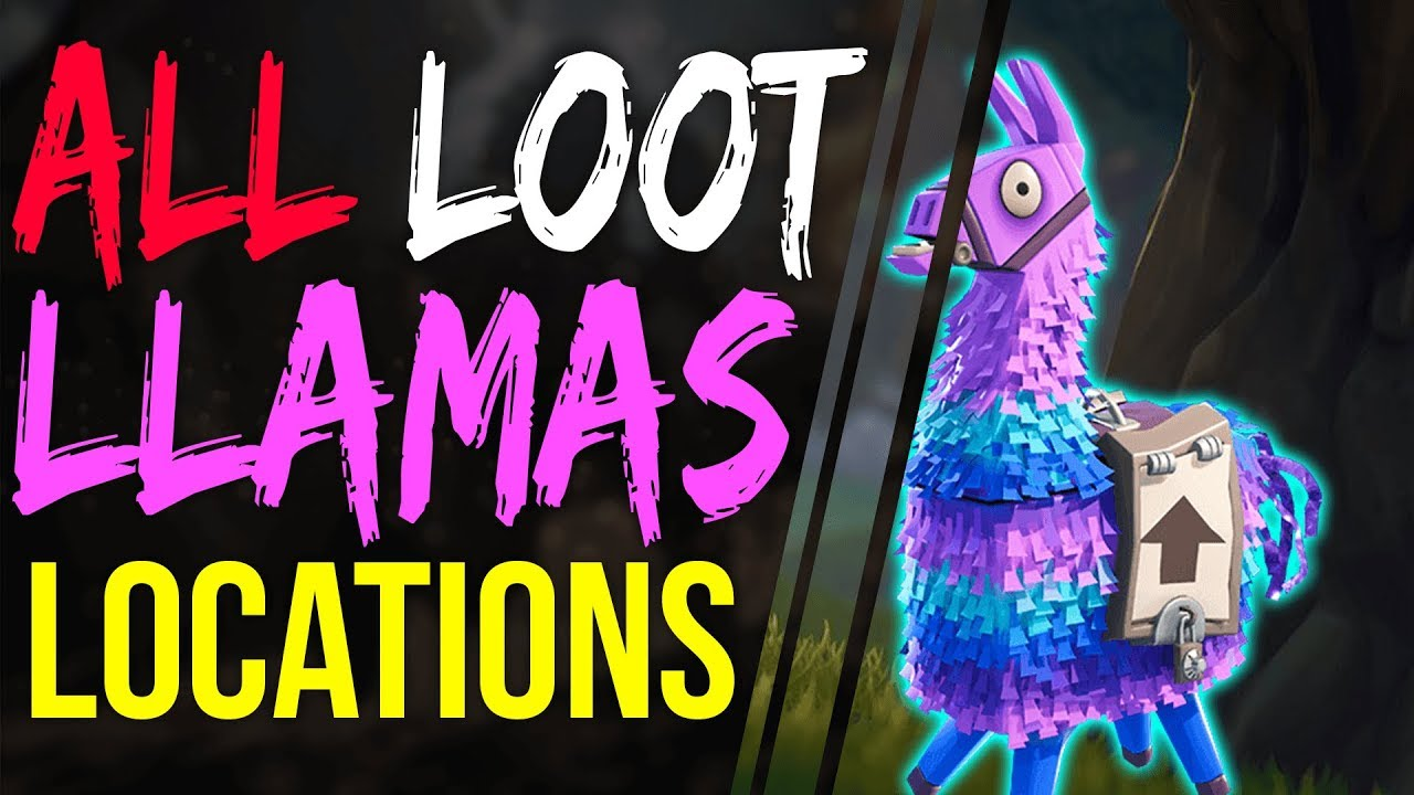 Fortnite Battle Royale ALL LOOT LLAMA LOCATIONS On MAP How To Find A LOOT  LLAMA SUPPLY