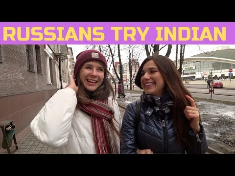 Russian Girls Try Indian Food For The First Time! 🇮🇳