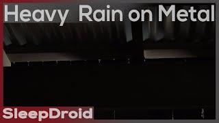 ►Hard Rain on a Tin Roof ~Sounds for Sleeping (Metal Roof, Zinc) Rain at Night (Lluvia) (Chuva)
