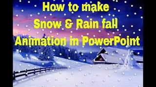 Comment faire de la Neige et de la Pluie Animation dans PowerPoint