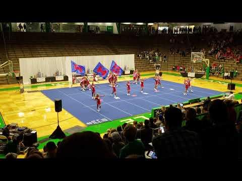 MHS Artesians Varsity Cheer Team at New Castle High School