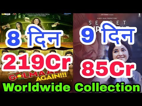 Golmaal Again 8th Day, Secret Superstar 9th Day Worldwide Box Office Collection | Hindi