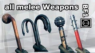 Battlefield 1: Showroom of all melee Weapons (Full Skins) [39x]