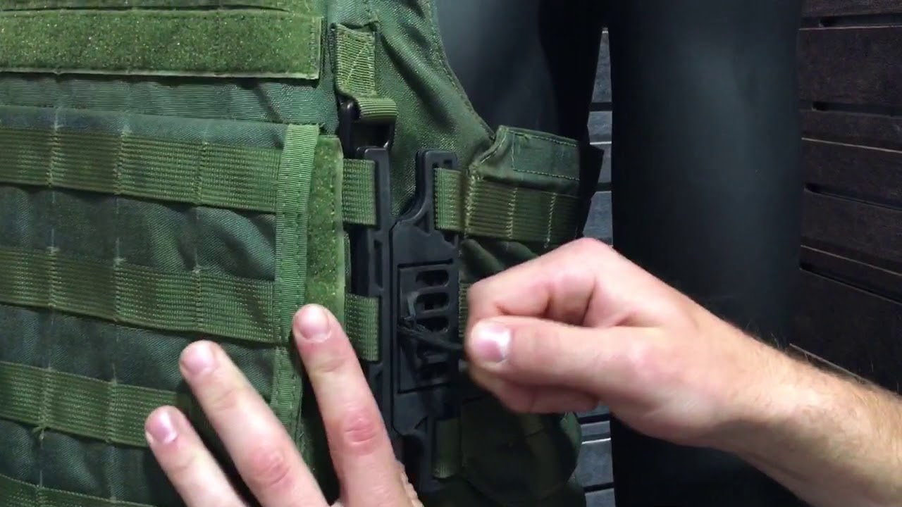 Aspetto Clip Quick Release System For Tactical Armor Plate