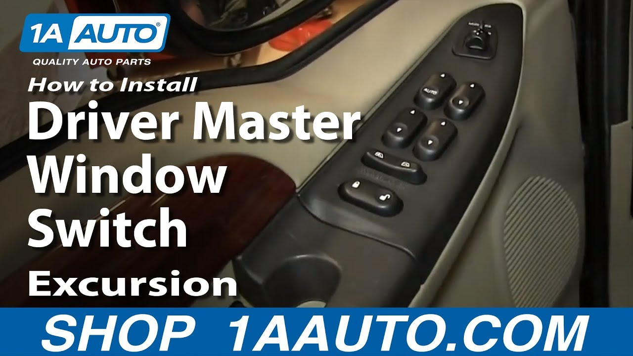 how to replace power window switch 02-05 ford excursion
