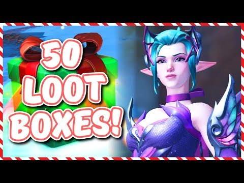 Overwatch - OPENING 50 WINTER WONDERLAND 2018 LOOT BOXES thumbnail