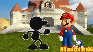 Mario meets Mr.Game and Watch (Canal Gmod Collab Entry)