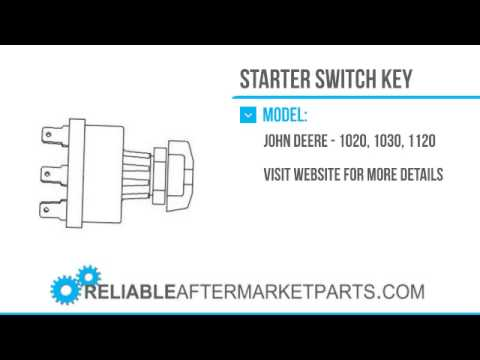 2214 al19890 new john deere tractor key starter switch 820 1020 1030 rh youtube com