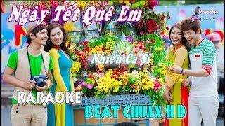 Ngày Tết Quê Em (Hồ Ngọc Hà ft. V.Music) - Karaoke minhvu822    Beat Chuẩn 🎤