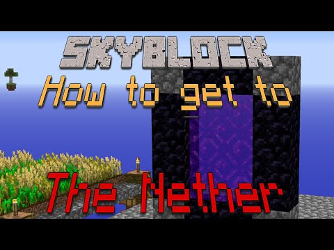 Skyblock 4 Tutorial: How to go to The Nether thumbnail