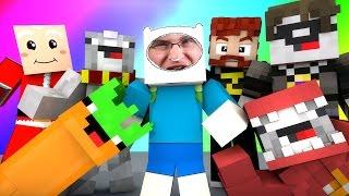 Minecraft Mini-Game : DO NOT LAUGH! (DEMON SANTA, CARROT WITH A GUN!) w/ Facecam