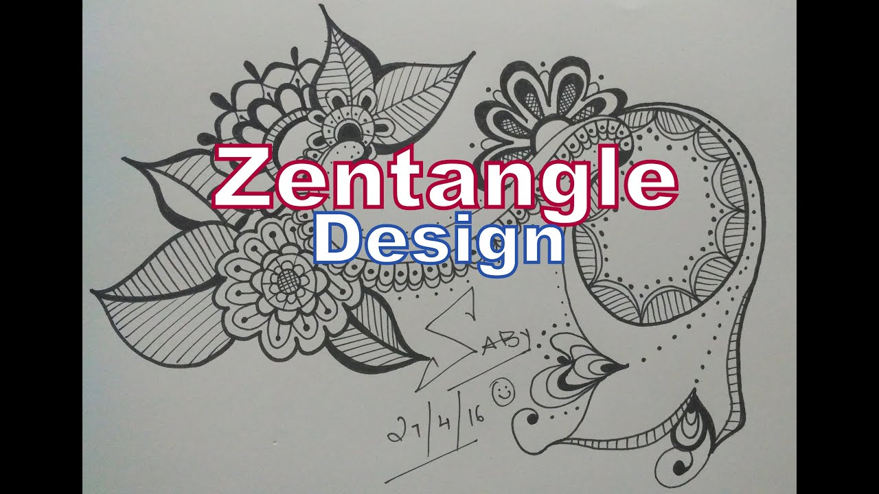 How To Draw Complex Zentangle Art Design For Beginners Easy Tutorial Doodle Drawing Step By