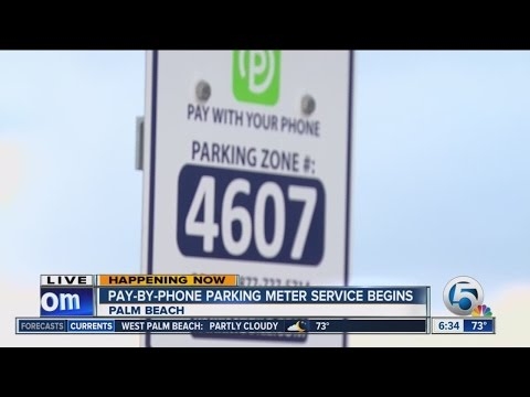 Pay-by-phone parking comes to Palm Beach