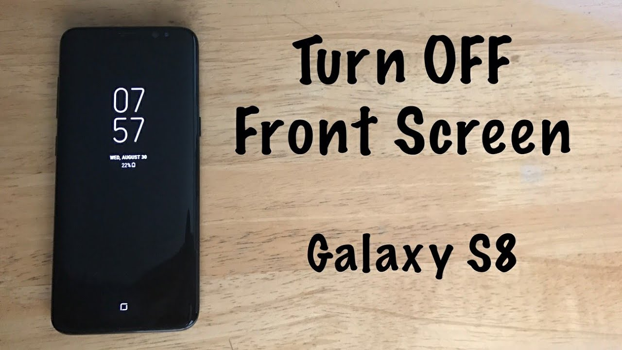 galaxy s8 lock screen clock